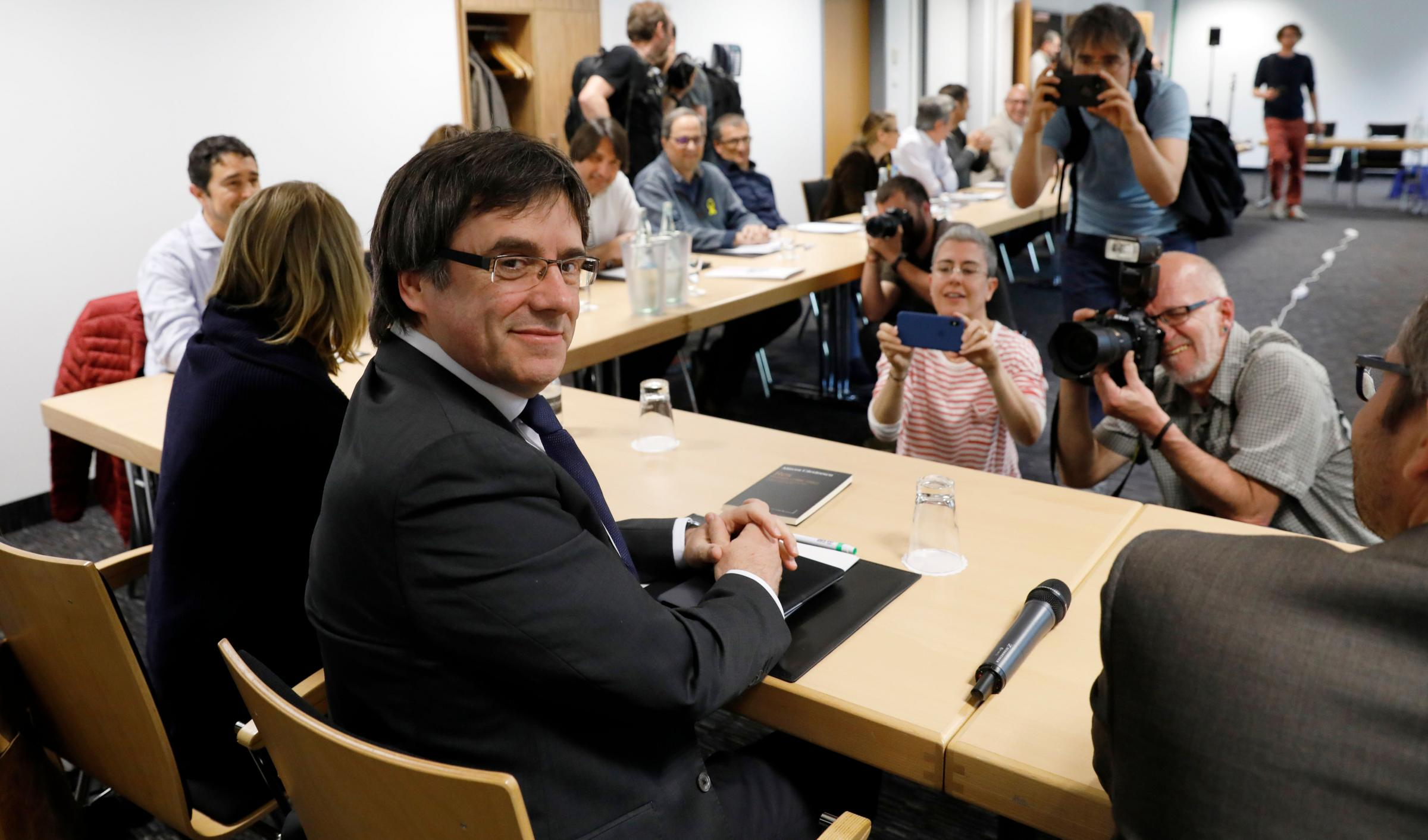 Carles Puigdemont could still be extradited for charges of embezzlement. Photograph: Getty