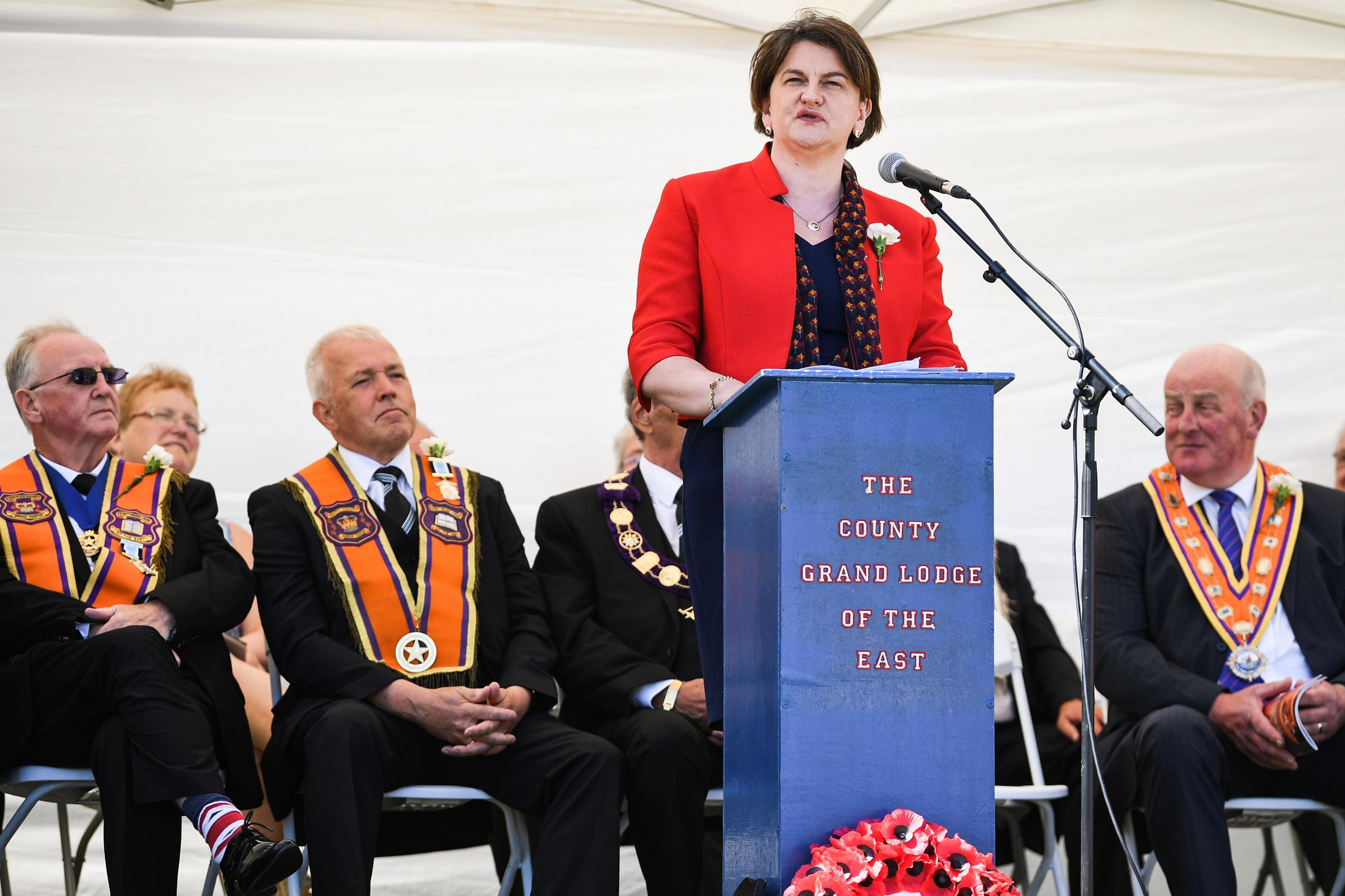 Arlene Foster was the keynote speaker at a recent Orange walk in Fife