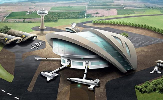 Artist's impression, Sutherland Spaceport (The National Scot)