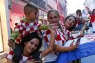 Croats celebrate their close encounter with the World Cup after losing to France in the final
