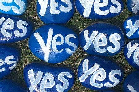 Locations across Scotland are set to be decorated with Yes stones