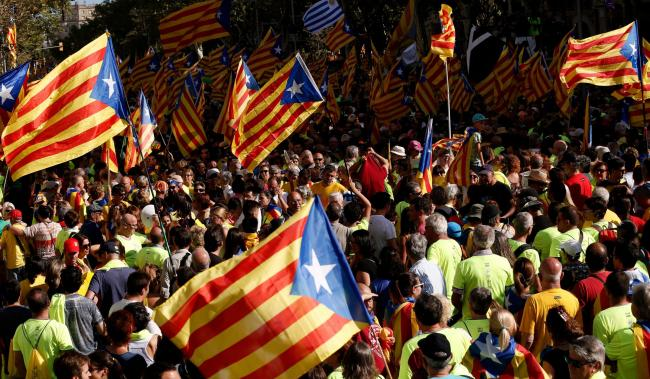 La Diada could attract up to one million people to Barcelona. Photograph: Getty