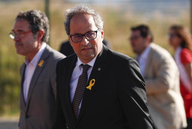 Catalan   President Quim Torra has repeated his call for pro-independence members of Congress to reject Spain's budget proposals