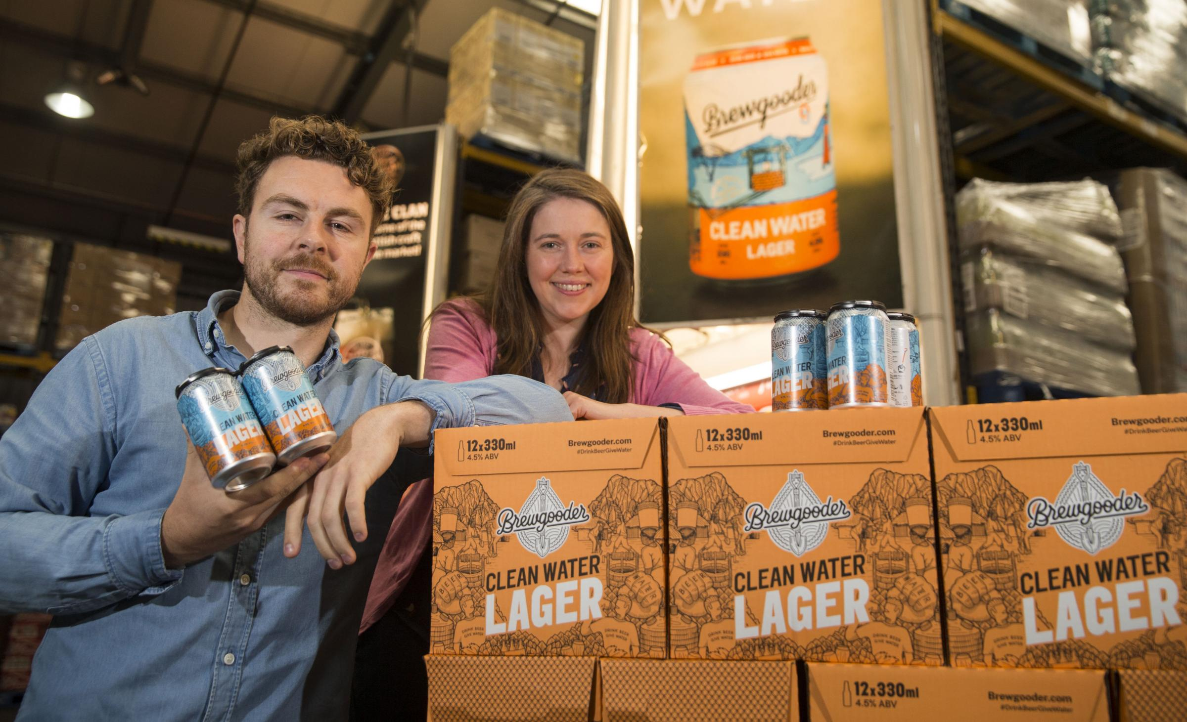 Communities Secretary Aileen Campbell announced the investment while meeting Brewgooder's Alan Mahon