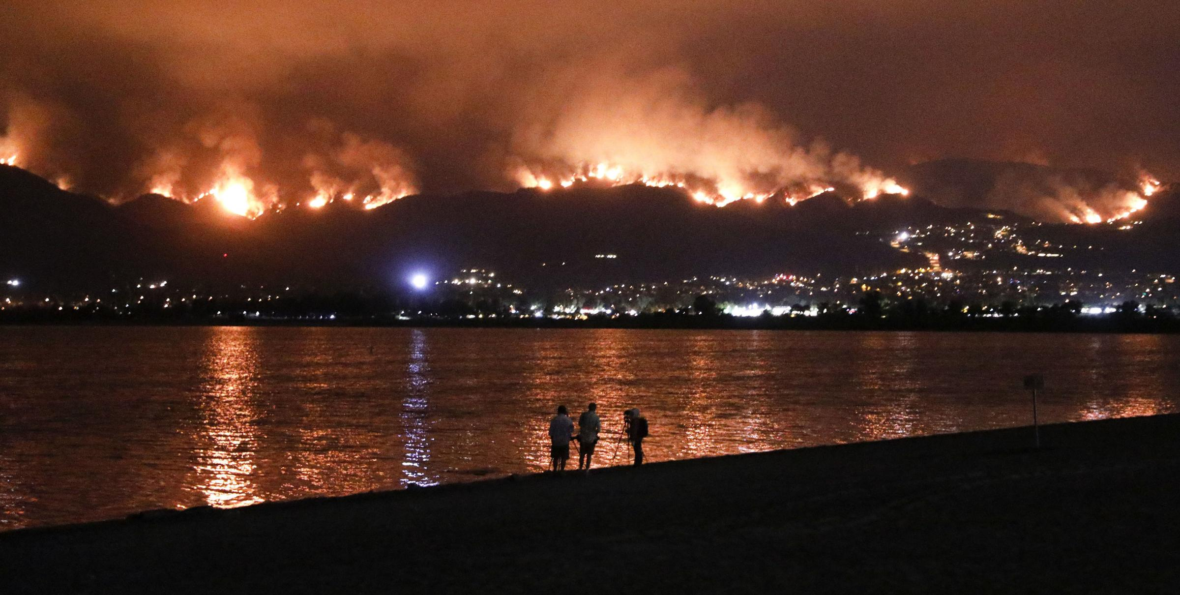 Evacuations have been ordered for several small mountain communities near where the blaze continues to grow. Photograph: AP