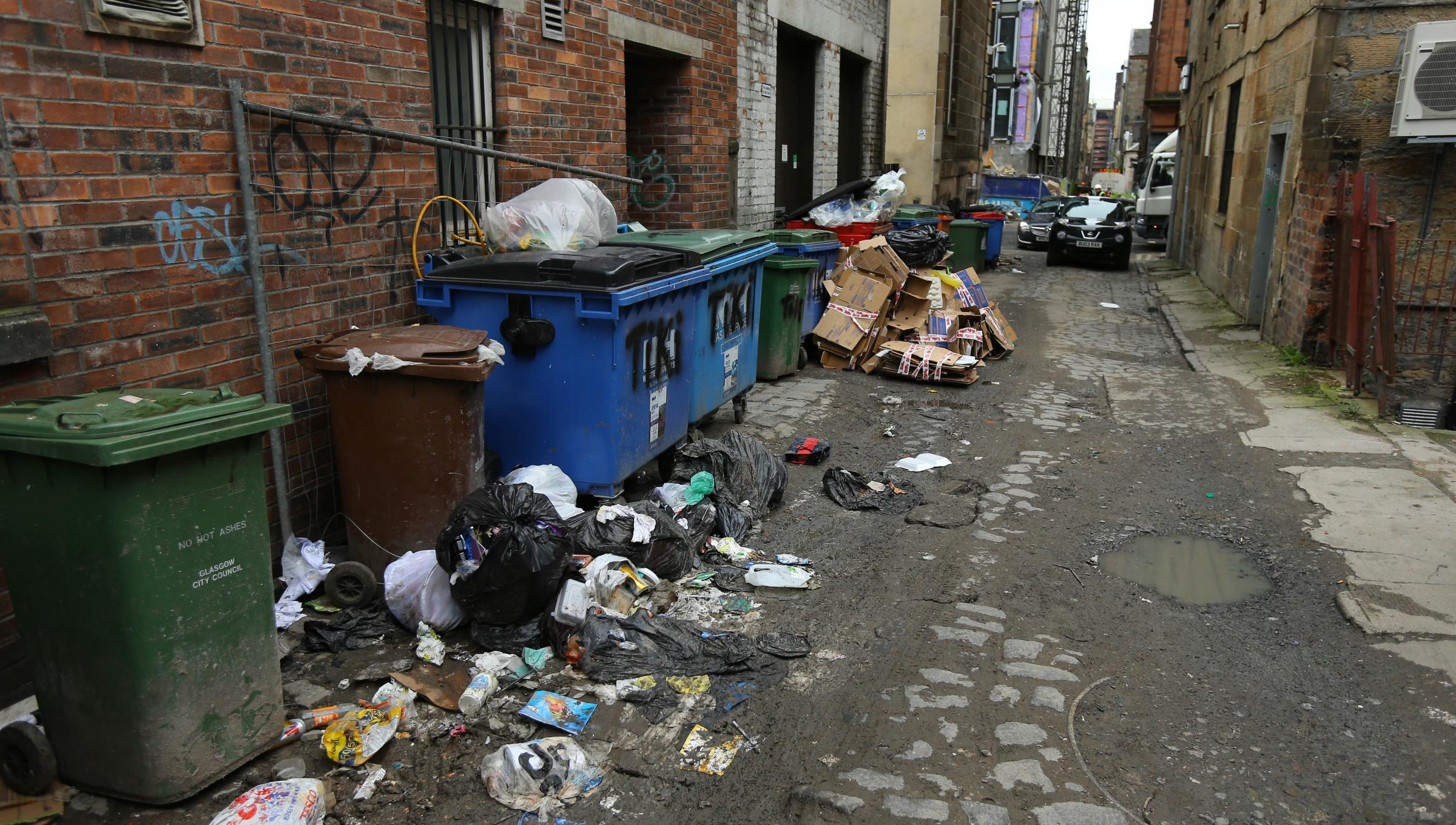 Mid Scotland and Fife comes top for recycling, but Glasgow is rubbish. Photograph: Colin Mearns