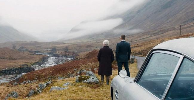 Glen Etive features in Skyfall and is visited by the characters played by Judy Dench and Daniel Craig