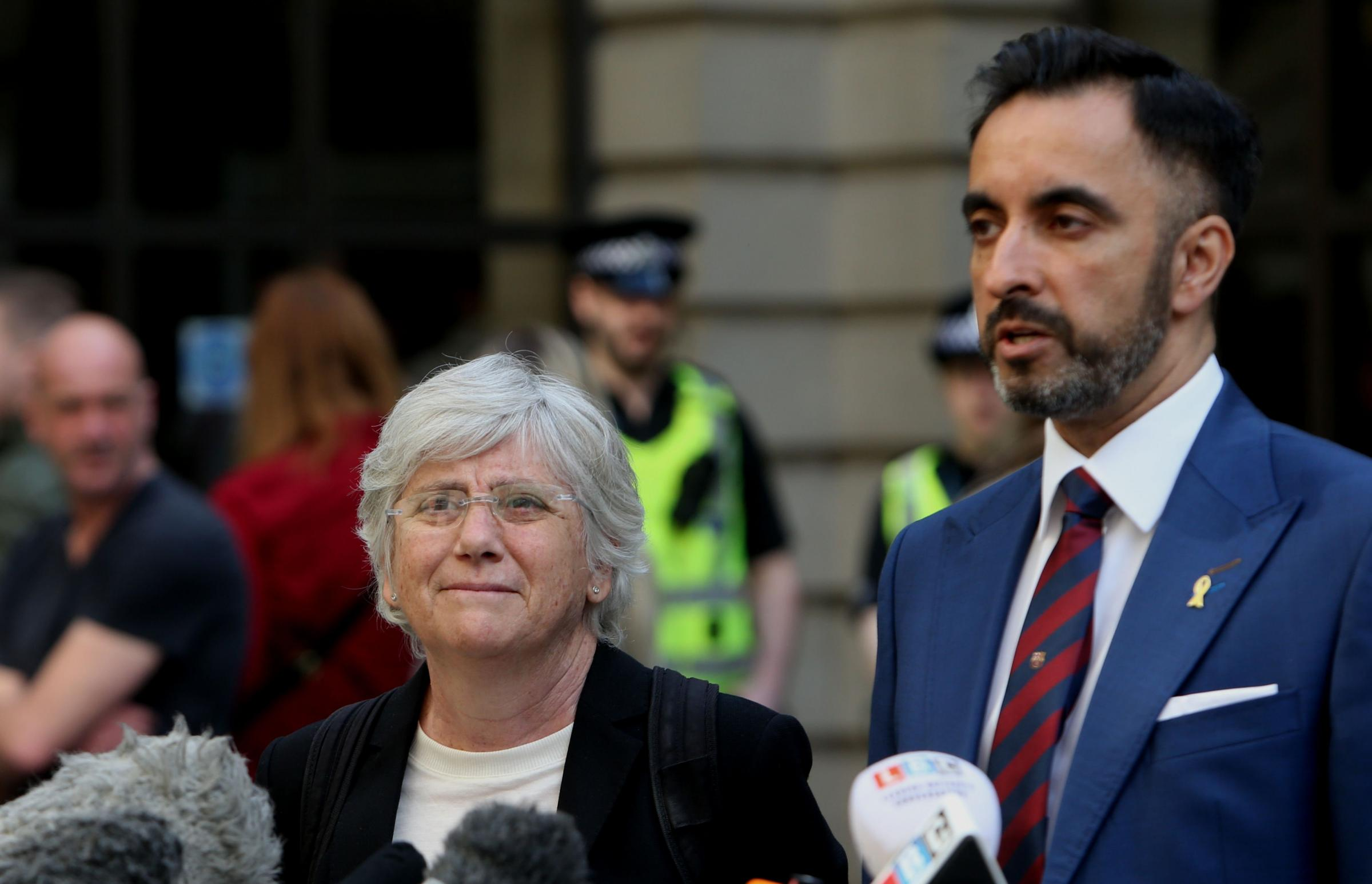 Aamer Anwar with Former Catalan education minister Clara Ponsati who he represented after the Catalonia independence referendum