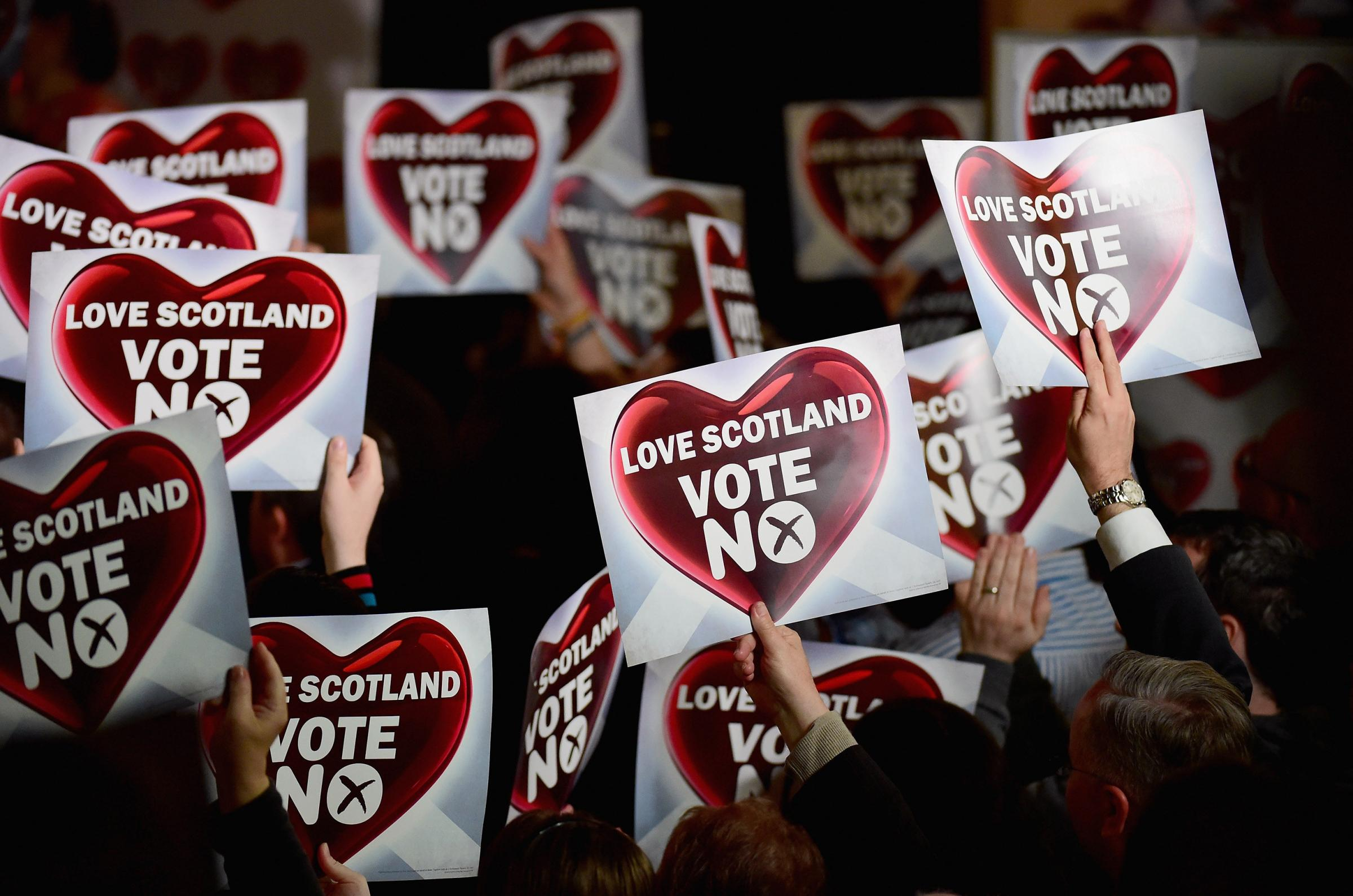 No voters were lied to in the weeks building up to the 2014 independence referendum. Photograph: Getty