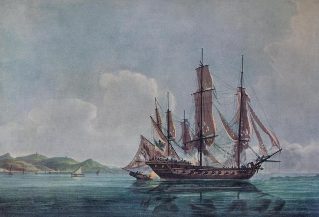 In 1800 Cochrane was given his first command, HMS Speedy, a brig armed with 14 small cannons