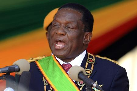 The National: Emmerson Mnangagwa was inaugurated for the second time since the ousting of his mentor Robert Mugabe. Photograph: AP