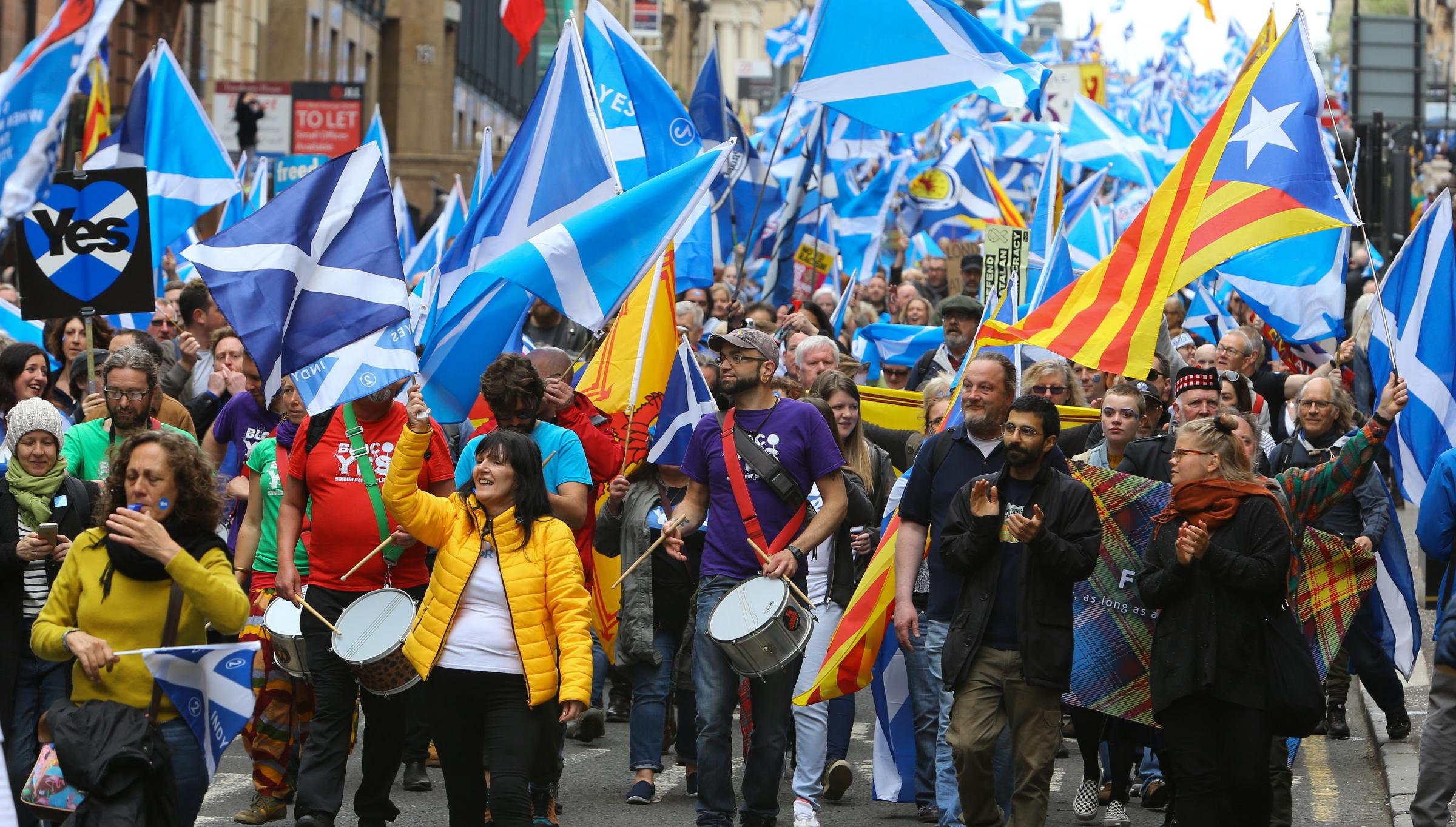 The All Under One Banner march in Edinburgh hopes to attract tens of thousands of people. Photograph: Colin Mearns