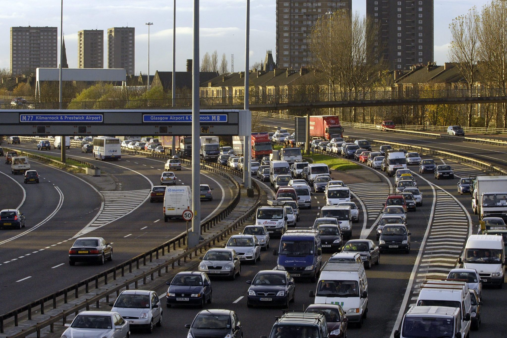 The £500m M8-M73-M74 development has failed to fix Glasgow's traffic problem