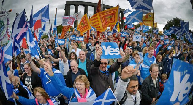 Support for a Yes vote in Scotland was shown to be 52% post-Brexit