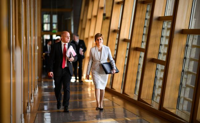 Nicola Sturgeon came under fire at FMQs. Photograph: Getty Images