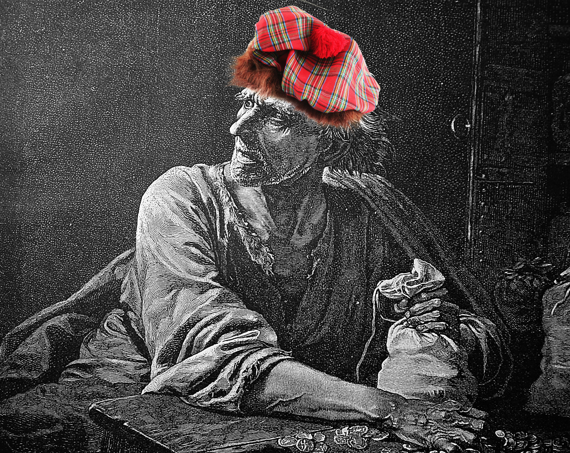 A representation of the stereotypically miserly Scot – as thought of by some