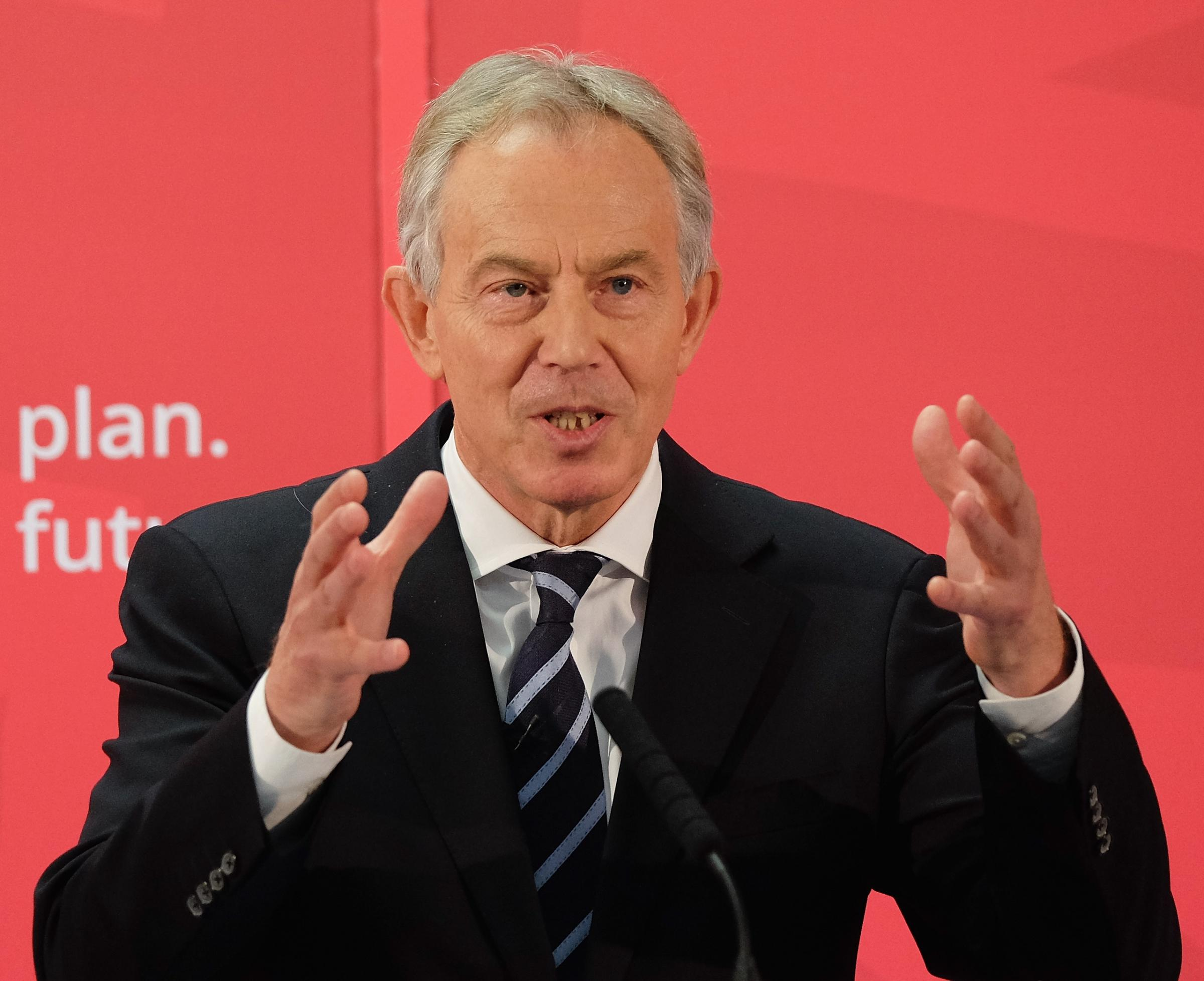 Tony Blair also took a swipe at the current Labour leader