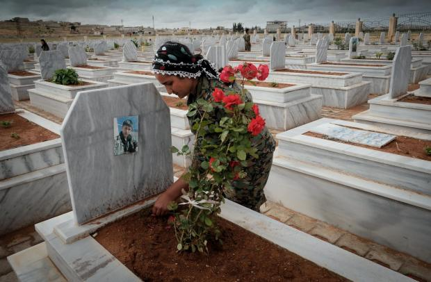 The National: Martyr's Cemetery in Kobane, Syria. Photograph: David Pratt
