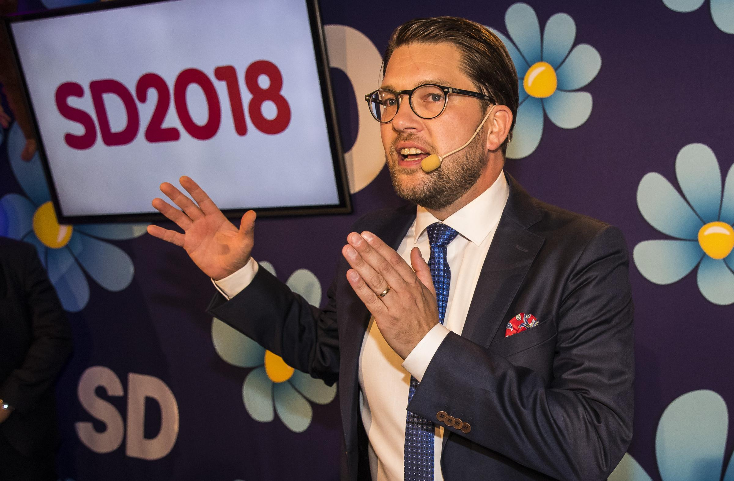 Jimmy Akesson, leader of the far-right Sweden Democrats
