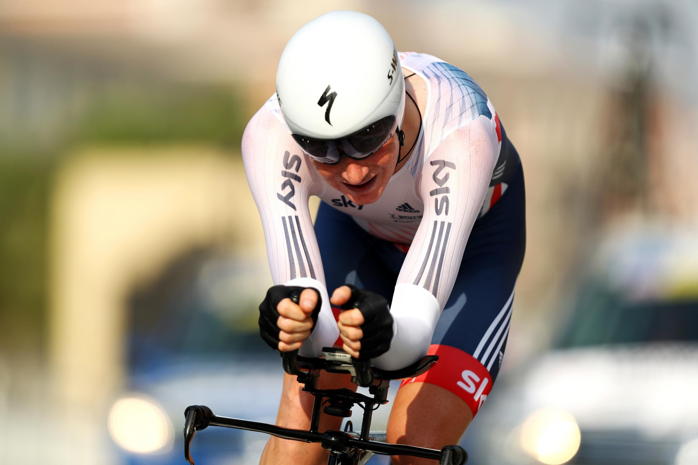 DOHA, QATAR - OCTOBER 10:  Tao Geoghegan Hart of Great Britain competes in the Men's U-23 Individual Time Trial during day two of the UCI Road World Championships on October 10, 2016 in Doha, Qatar.  (Photo by Bryn Lennon/Getty Images).
