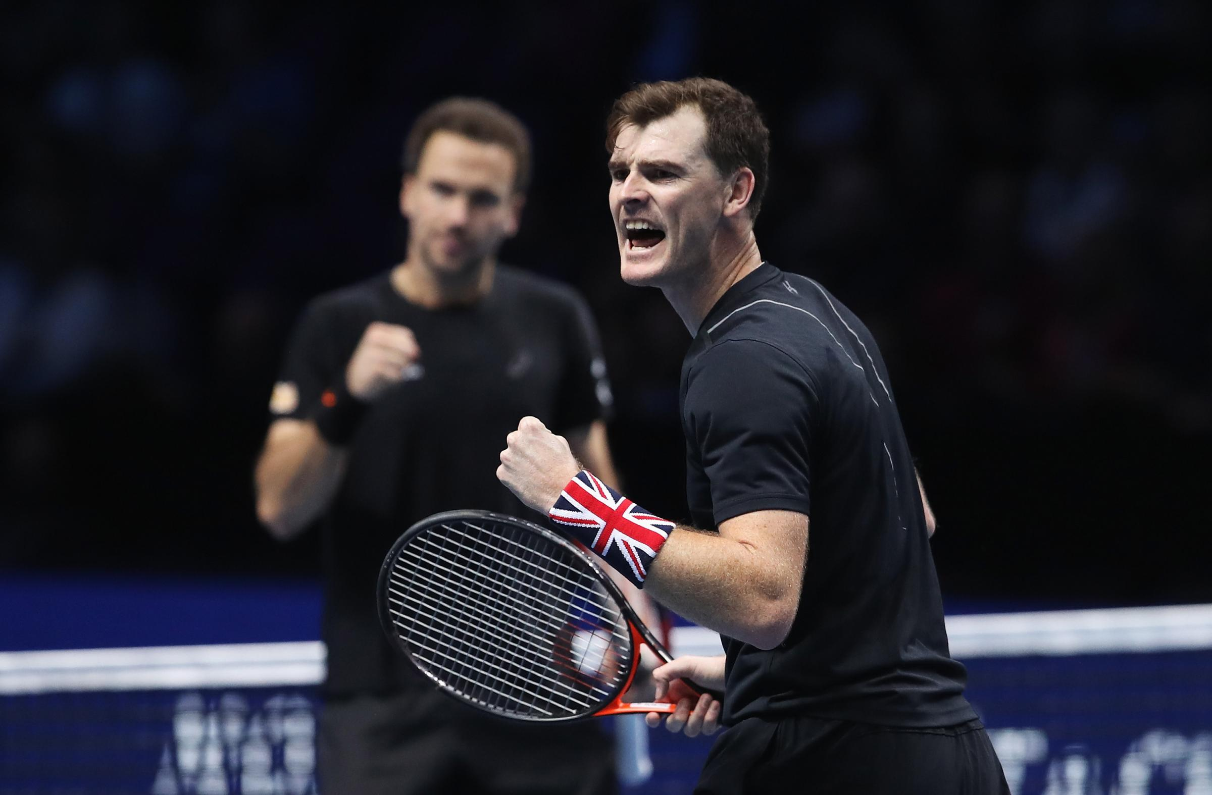 Jamie Murray was playing in Great Britain's David Cup tie against Uzbekistan