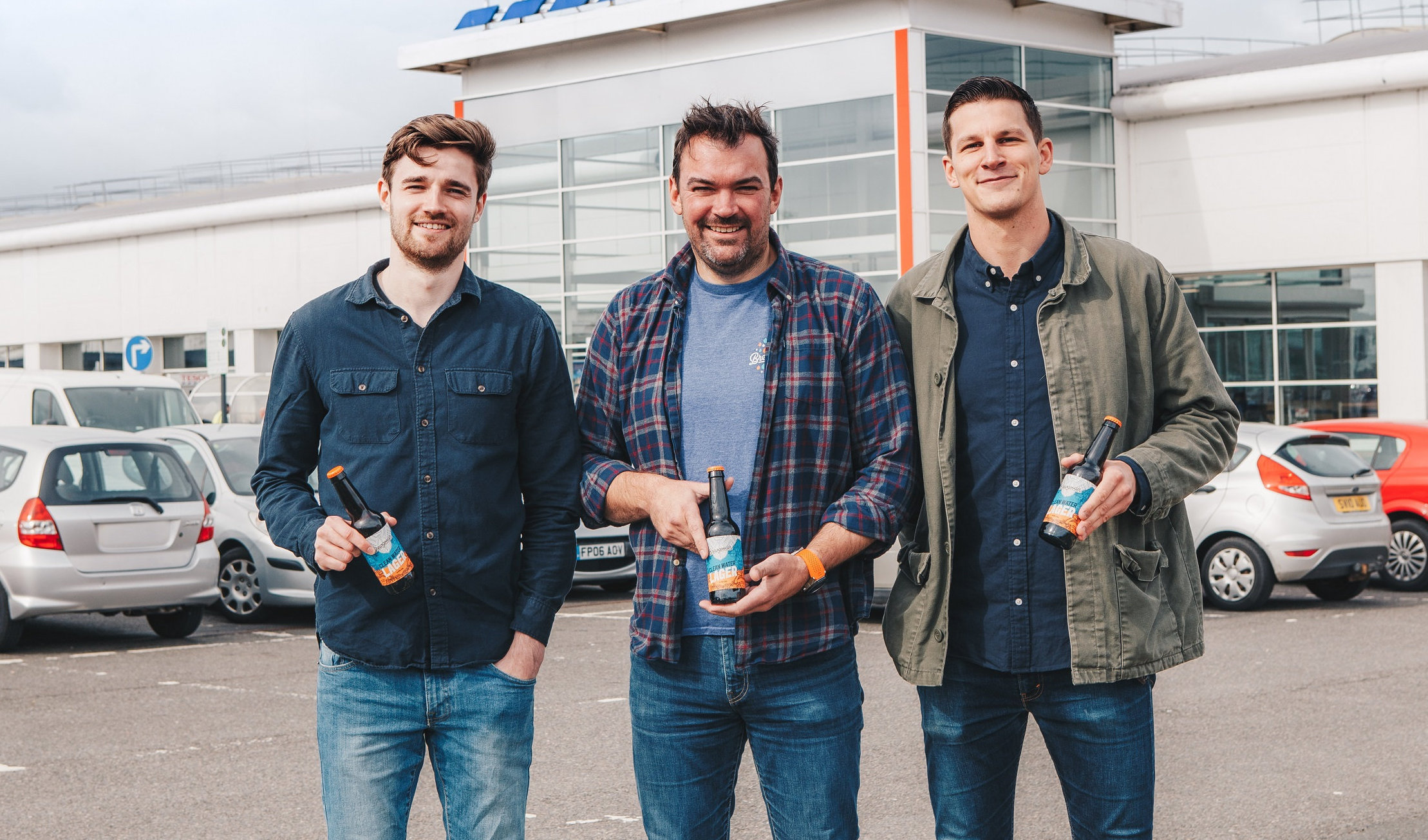 From left: James Hughes, Scott MacDonald and Henry Leonard of Brewgooder
