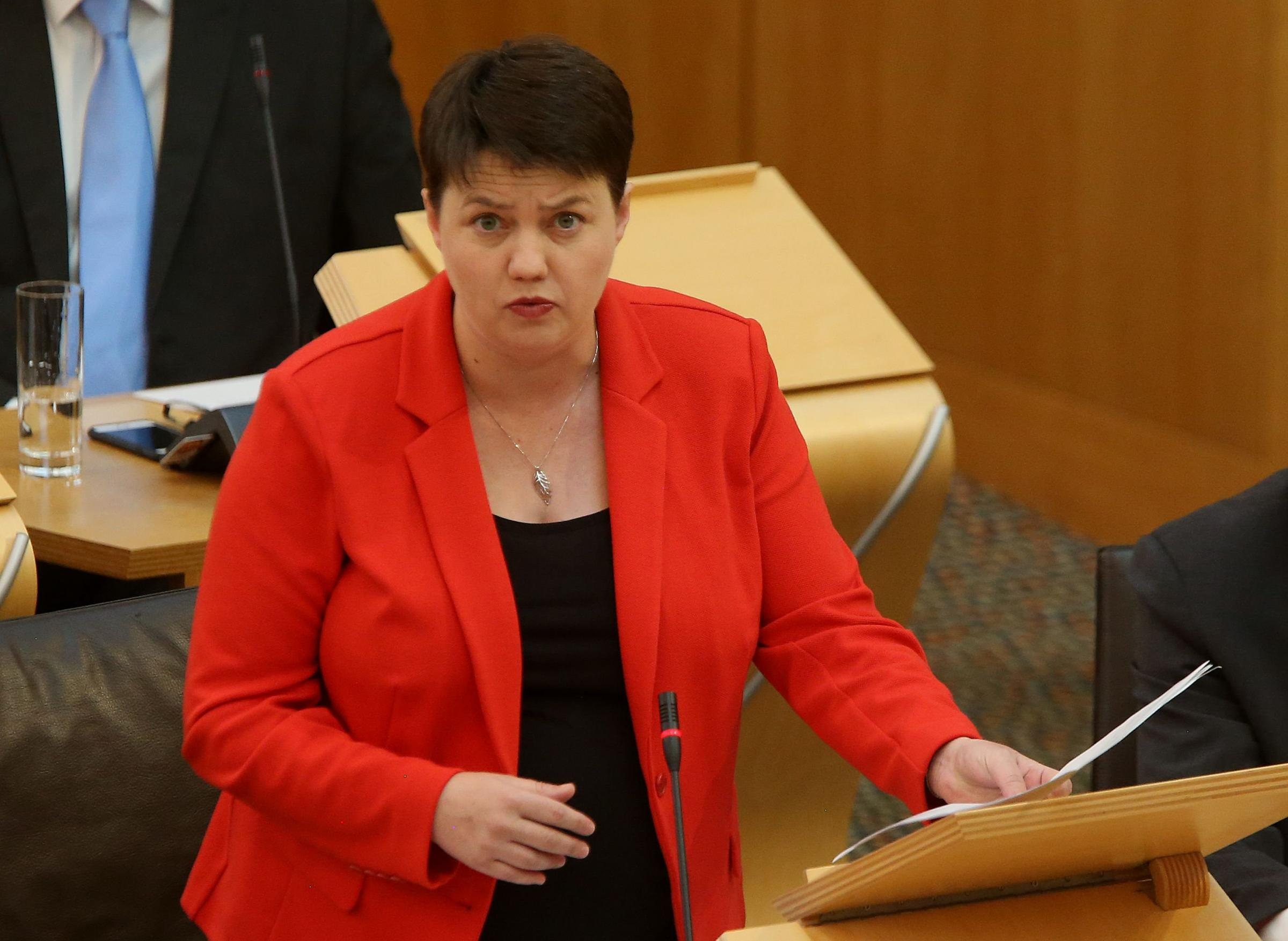 Ruth Davidson went on the attack over the testing of P1 pupils – but it backfired