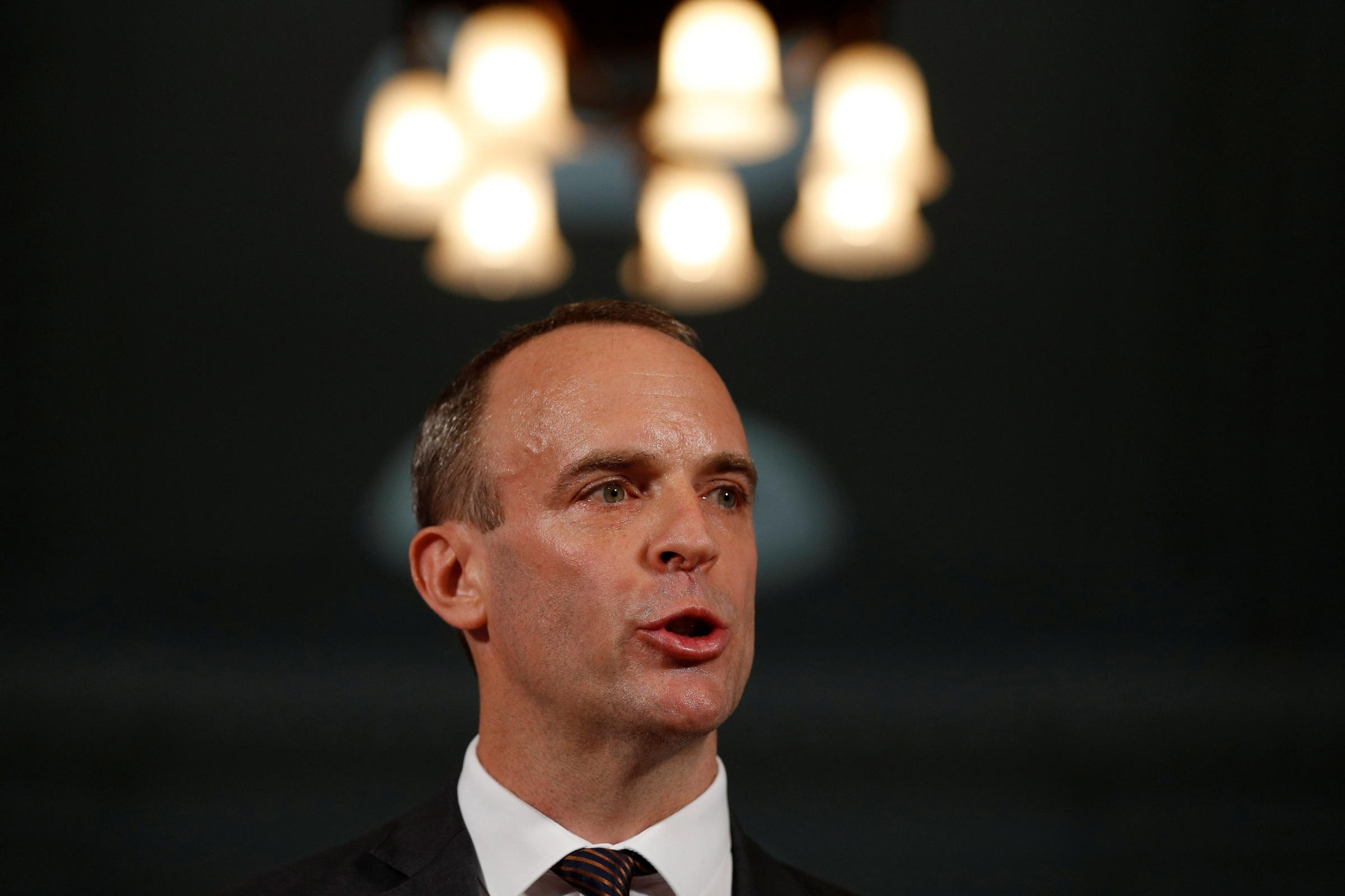 Tory Brexit Secretary Dominic Raab was accused of 'wasting time'