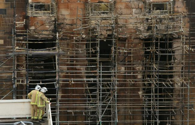 Fires began in the Mackintosh building twice in the space of four years