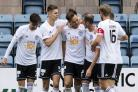 Lawrence Shankland (centre) is fulfilling the potential at Ayr United that saw him move to Aberdeen as a teenager.