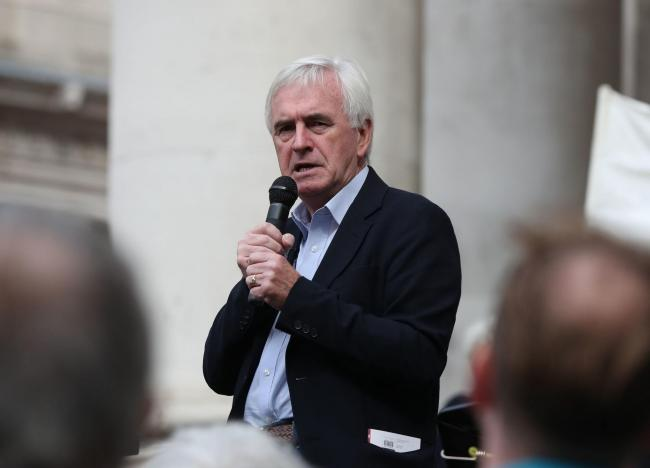 John McDonnell has ruled out a Remain option