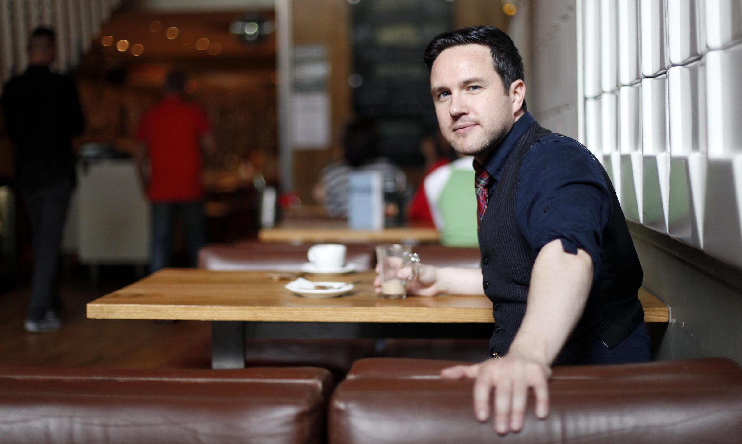 Writer Alan Bissett spoke to The National ahead of the release of his new play, It Wisnae Me. Photograph: Mark Mainz