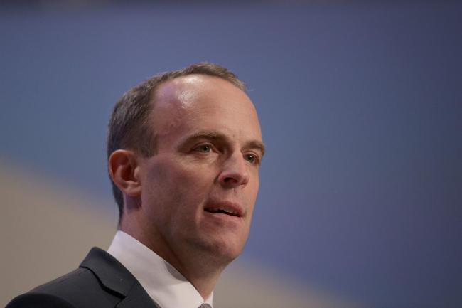Brexit Secretary Dominic Raab was criticised for not turning up to Parliament