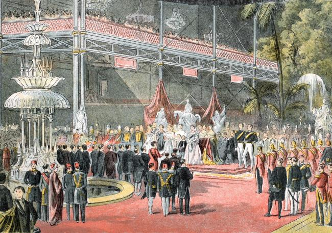 The Great Exhibition of 1851 was a reaction to the French Industrial Expo of 1844