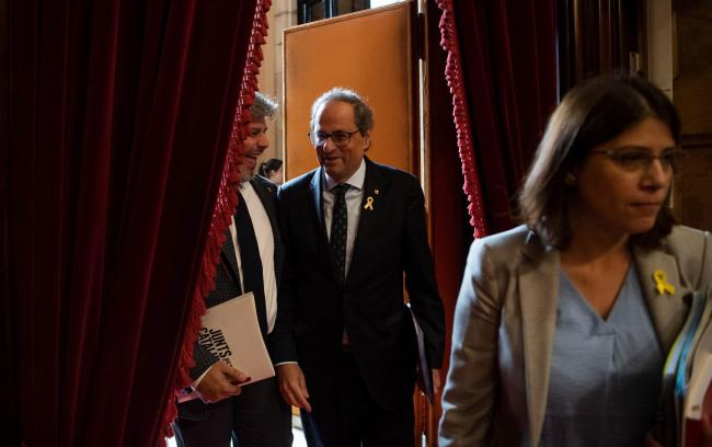 Quim Torra has warned that his patience is 'not infinite'. Photograph: Getty
