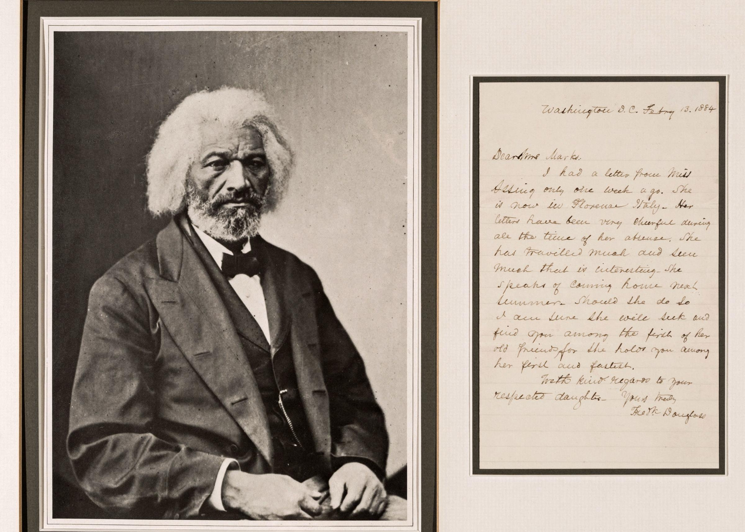 Never before seen items from Frederick Douglass' family collection will be on display