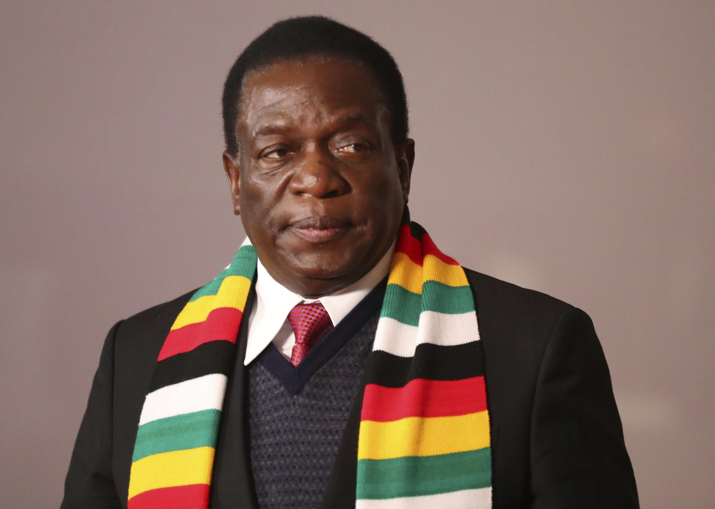 Zimbabwe's president Emmerson Mnangagwa vowed to fight the disease