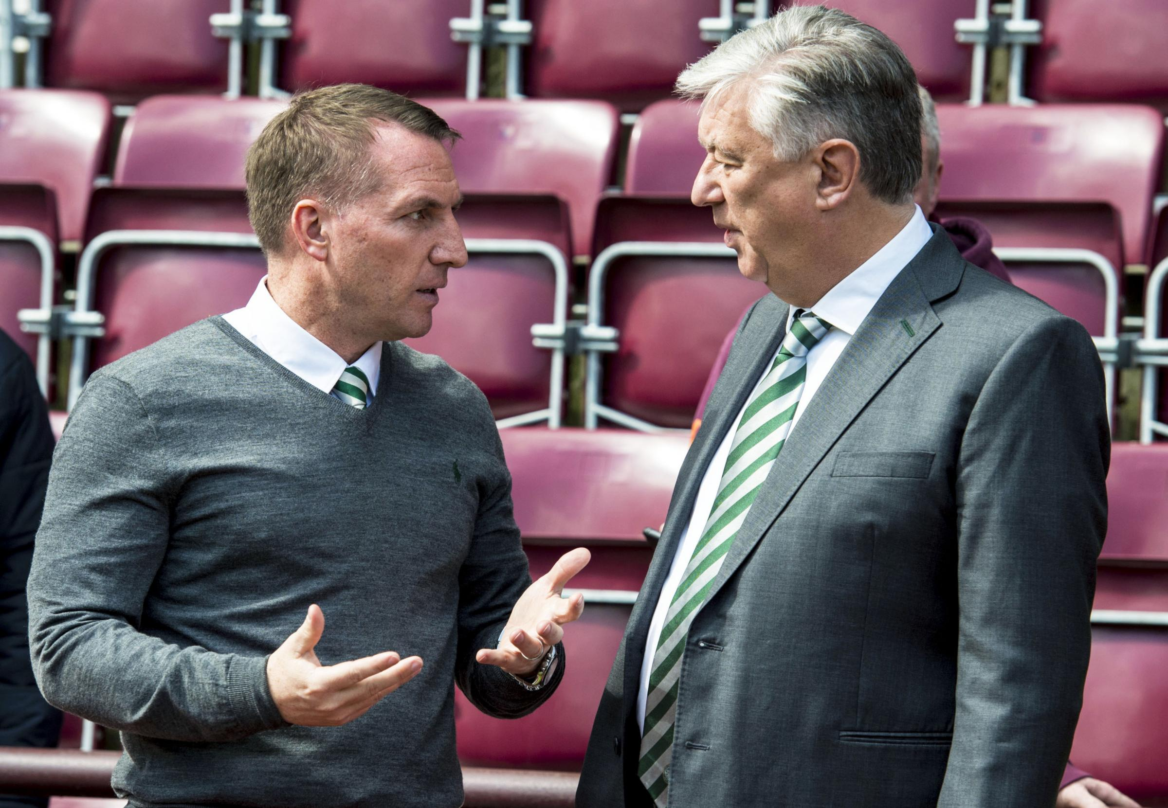 Manager Brendan Rodgers and chief executive Peter Lawwell have reportedly fallen out over Celtic's transfer dealings