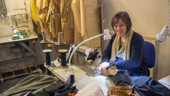 Experienced dress-maker and tailor Heather came to work at Hilltrek in 2006