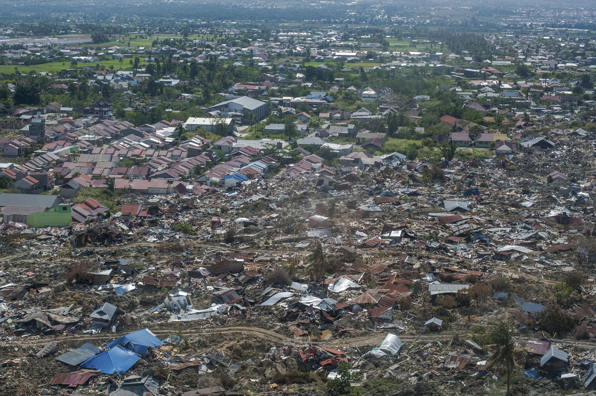 The natural disasters wreaked havoc on the Indonesian island of Sulawesi