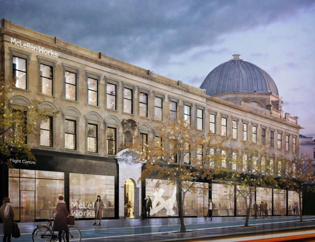 McLellan Works on Glasgow's Sauchiehall Street is proposed to open as a prime SME and co-working space in autumn 2019