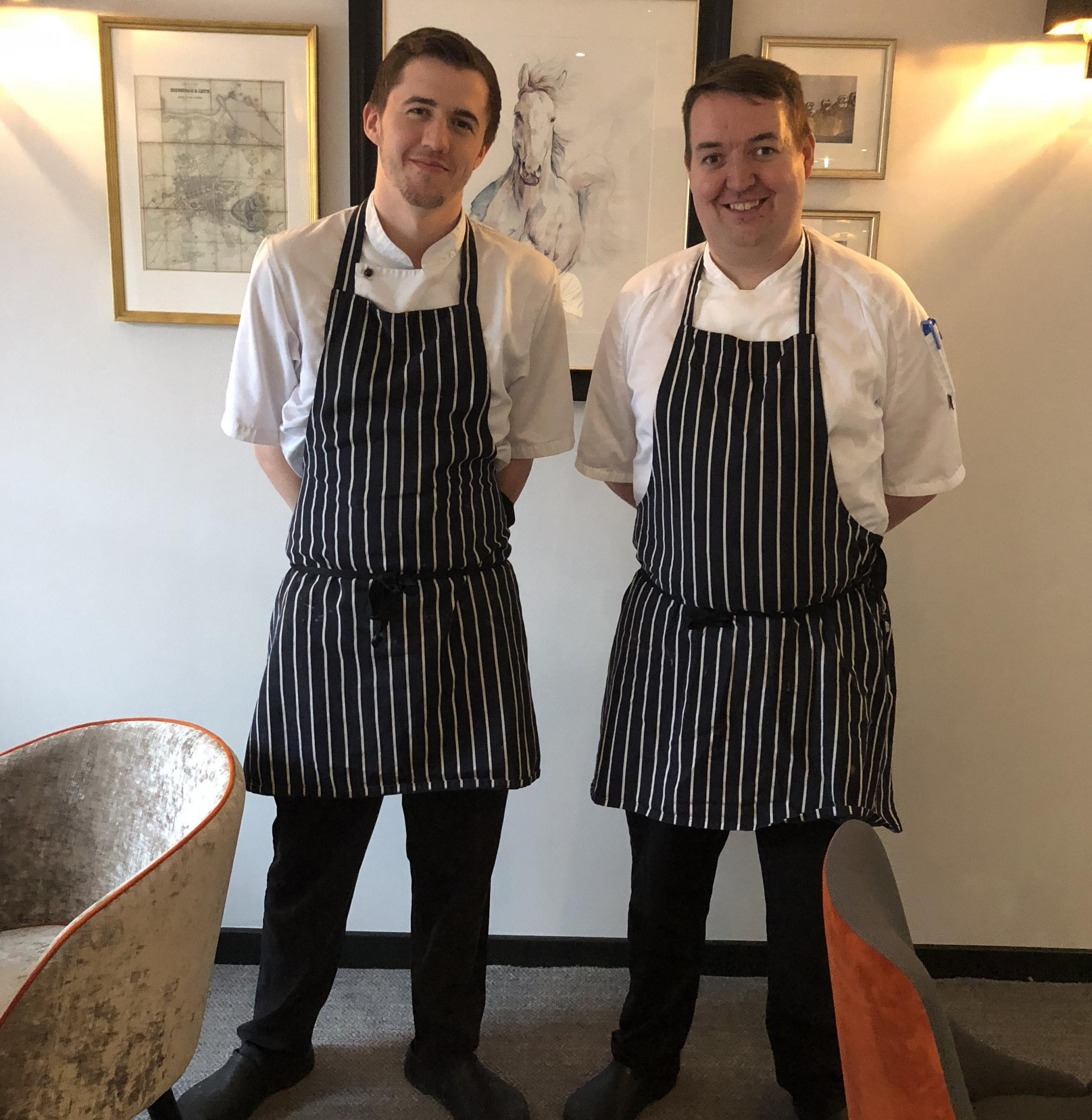 Jamie Reid, left, and Alan Dickson, from Edinburgh hotel Ten Hill Place