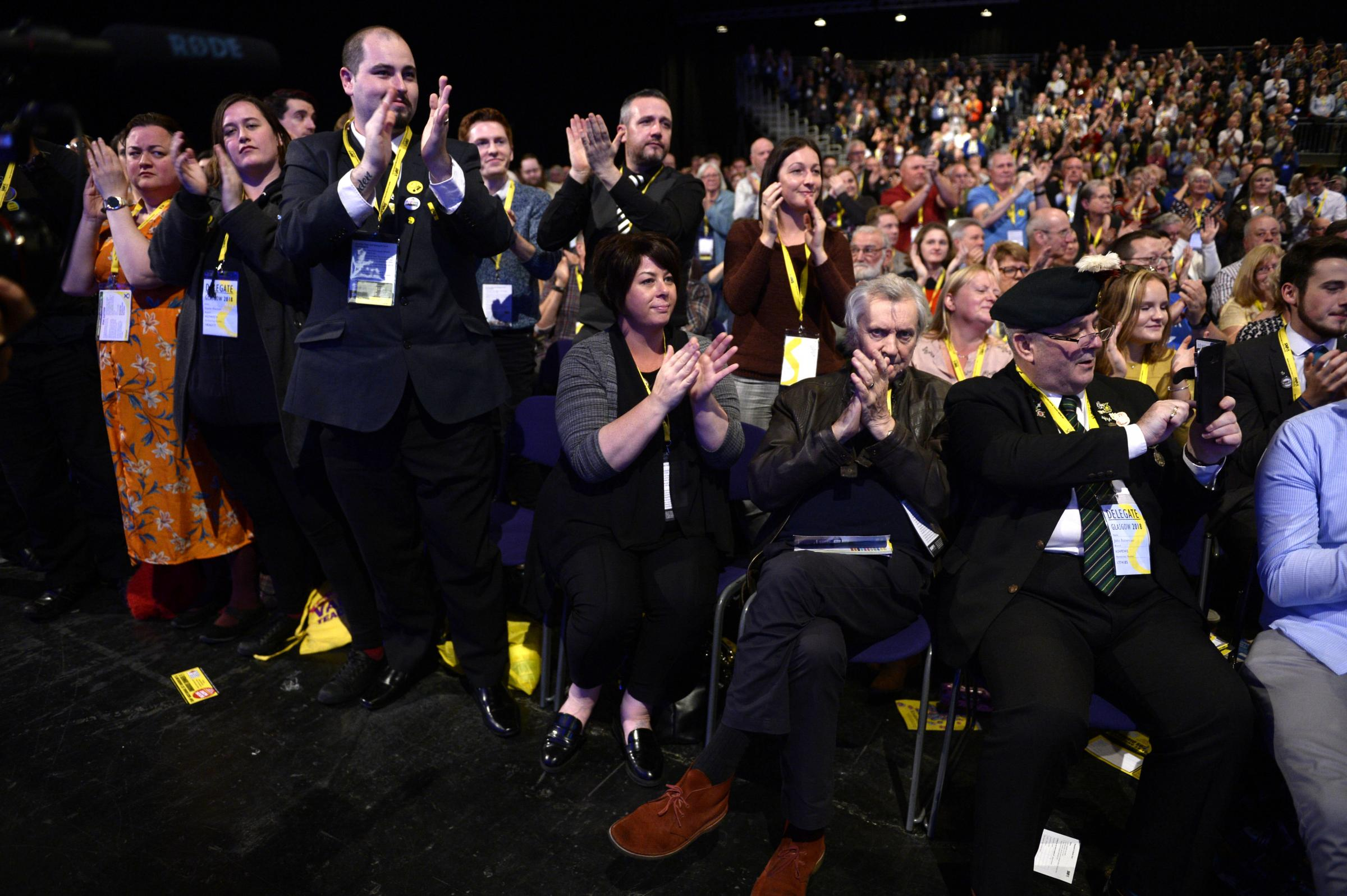 SNP members responded to the First Minister's conference address