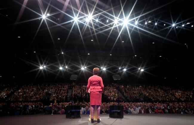 Sturgeon told independence supporters that their task is to 'to step up work to update and strengthen the case'. Photograph: PA