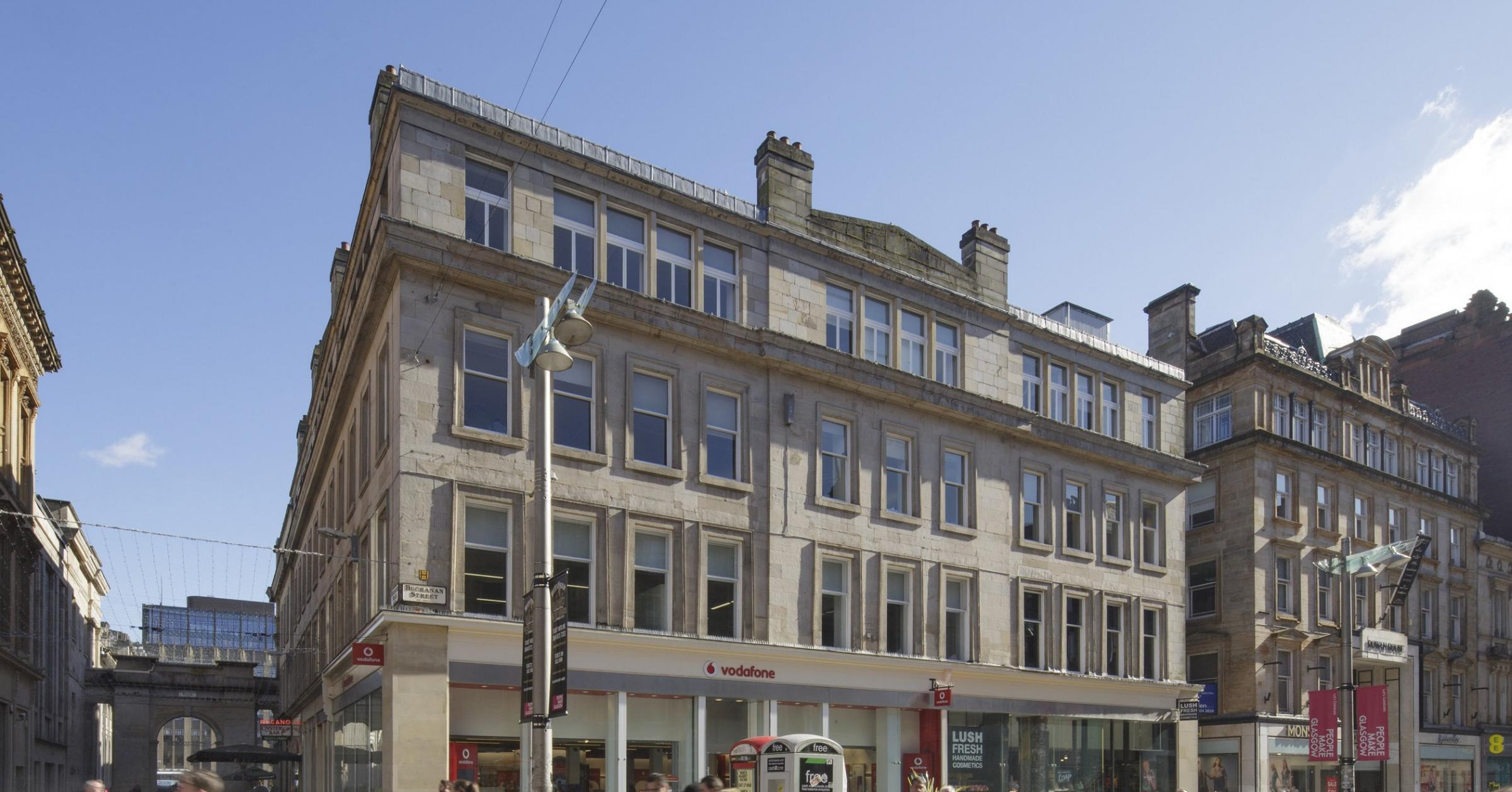 The largest deal of the quarter was Buchanan Street in Glasgow