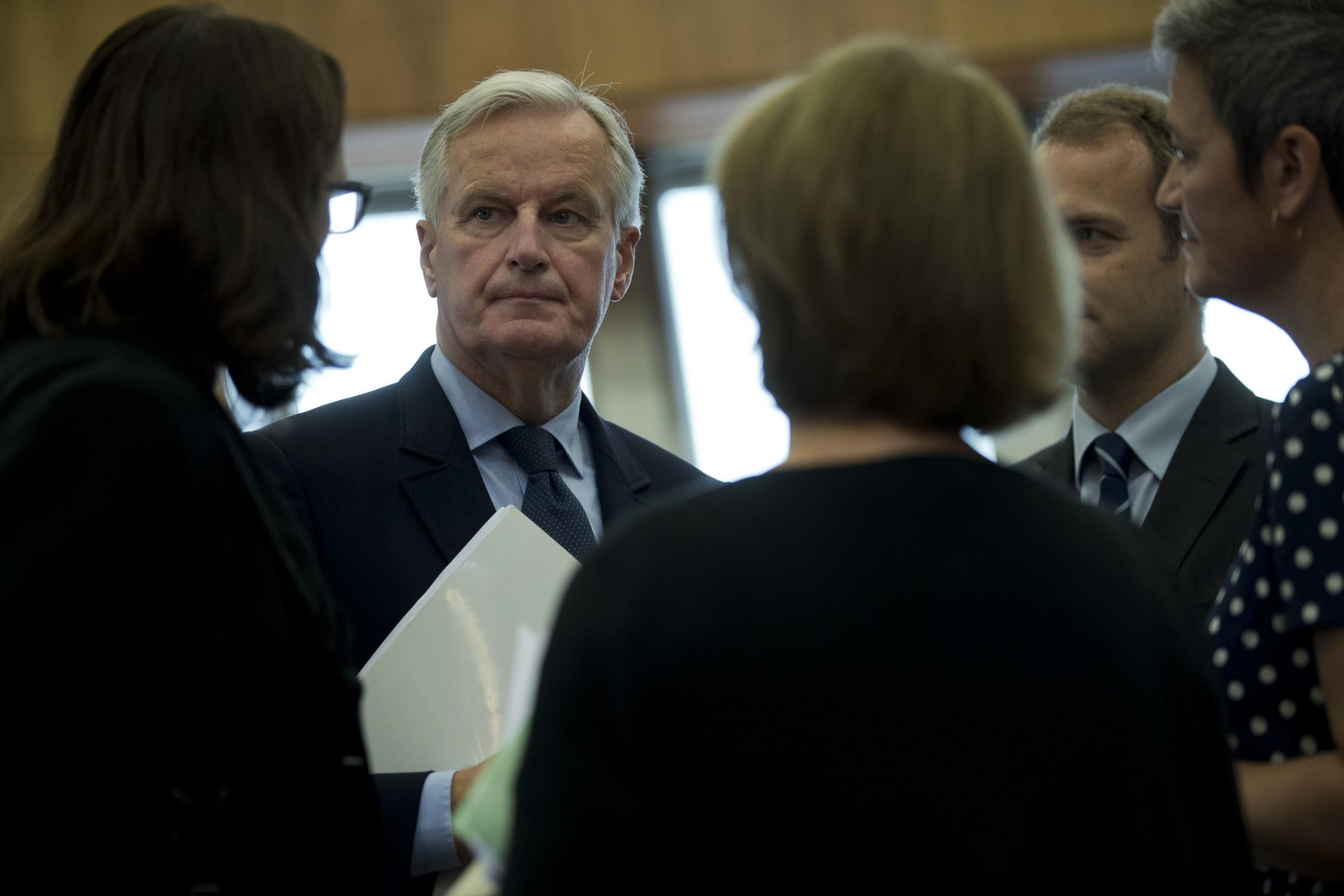 Michel Barnier made clear no agreement has been reached over protected produce
