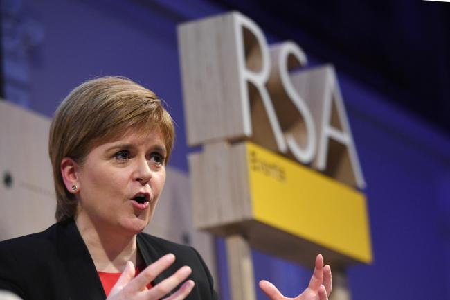 Nicola Sturgeon was speaking to an audience in London. Photograph: Getty