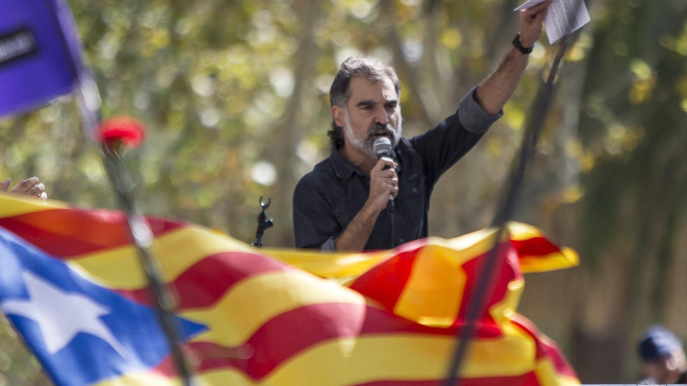 Jordi Cuixart only sees his 18-month-old son for a few hours per month