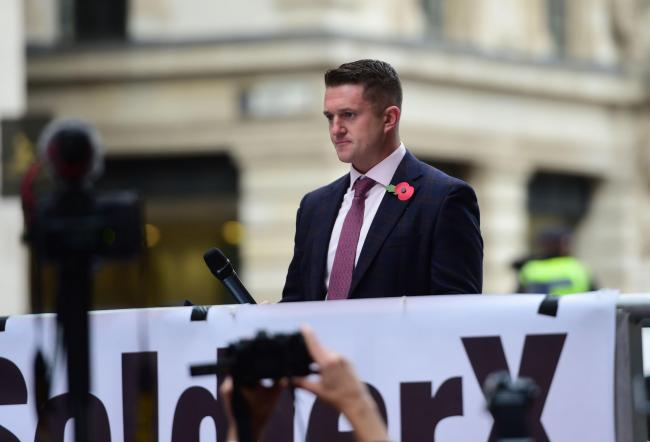 Far-right figure Tommy Robinson dined at the taxpayer's expense