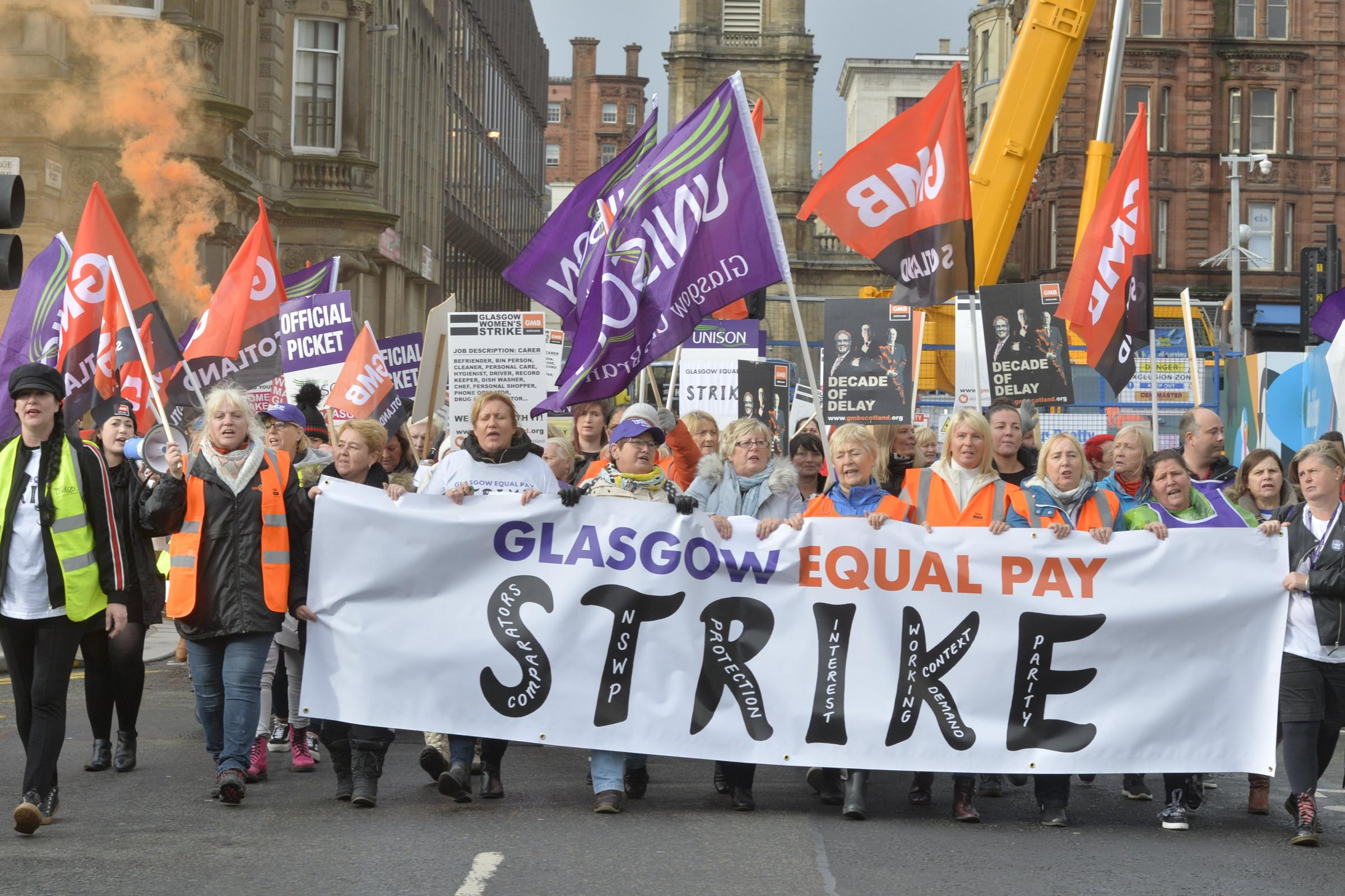 The blog criticised GMB organiser Rhea Wolfson and her role in organising equal pay strikes